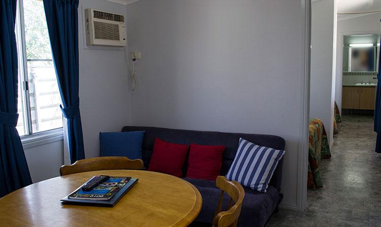 Kahlers Oasis Caravan Park Unit 4 berth lounge