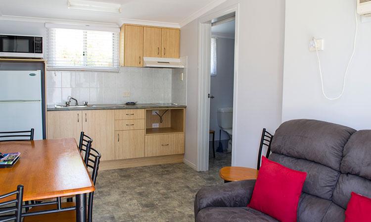 Kahlers Oasis Caravan Park Unit 6 berth lounge dining HERO