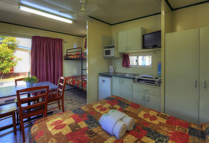 BIG4 Toowoomba Park Cabin 4 Berth Kitchen Main Bed