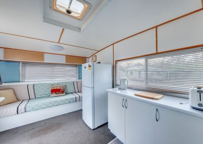 Helidon Caravan Fridge and Couch